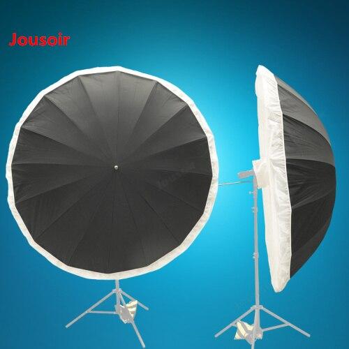 Parapluie réflecteur 185 cm plus couvercle flexible pour changer 16 coins boîte souple ronde, fibre parapluie os flexible CD50