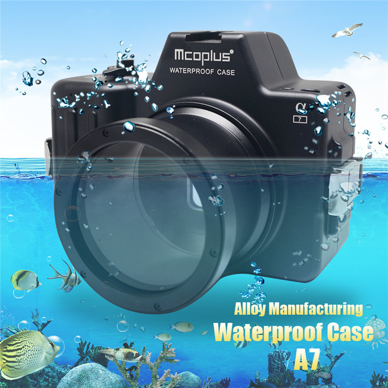 Mcoplus Waterproof Case for Sony A7 Camera 100M/325ft Alloy Manufacturing Underwater Camera Diving Housing Bag mcoplus for sony a7ii a7 mark ii camera waterproof case 100m 325ft alloy manufacturing underwater camera diving housing bag