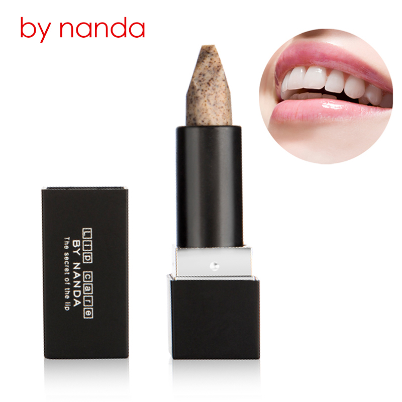 BY NANDA Exfoliating Lips Scrub Stick Gentle Exfoliator Fade Lips Wrinkles Cleaning Dead Skin Lip Care