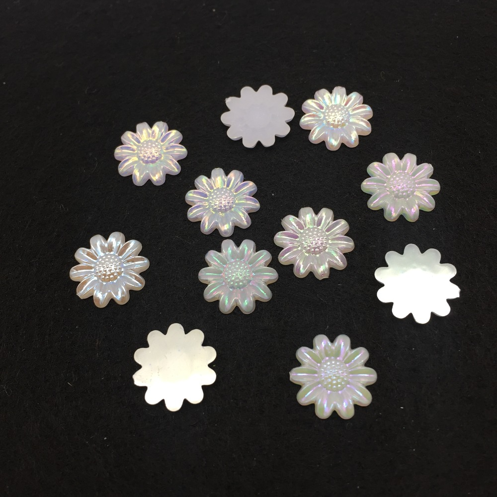 100PCS 12mm Mixed Color Rose pattern Resin Rhinestone Flat Backs Beads Scrapbook