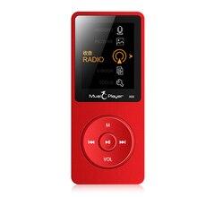 2017 Nuevos Llegan Ultrafino 8 GB Reproductor de MP3 Con Pantalla de 1.8 Pulgadas Se Puede Jugar 80 horas, Original IQQ X02 con FM, E-libro, Reloj, De Red de Datos