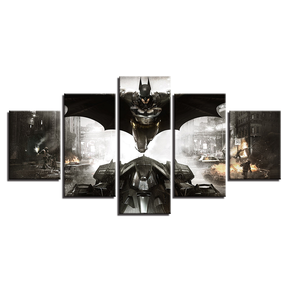 Rahmen Bild Decor Wandkunst Poster Modular 5 Panel Film Batman ...