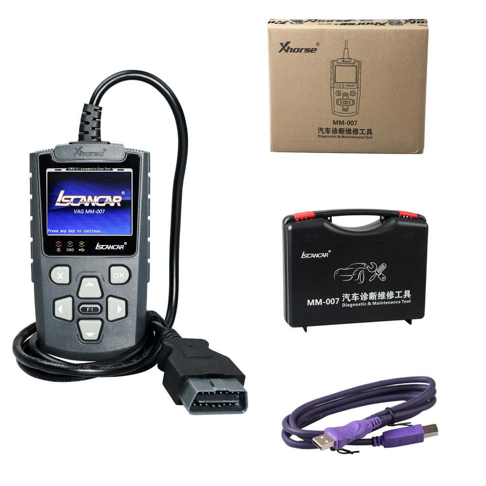 New Xhorse Iscancar VAG MM-007 Diagnostic and Maintenance Tool Support Offline For VAG MM007 Refresh for VWAudiSkodaSeat (9)