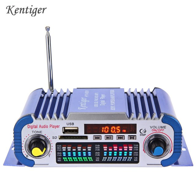 Best Price HY601 12V Digital Car Amplifier Auto Hi-Fi Stereo Power Amplifiers 2 Channel Sound Mode LED Audio Music Player Support USB MP3