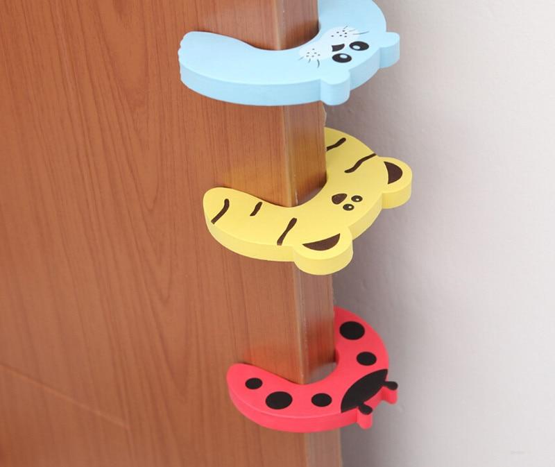 Safety Door Stoppers Different Design Baby Child Edge Corner Guards Foam Door Jammer Finger Protector Stoppers 6PCSset