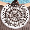 Boho Mandala okrągłe ręczniki plażowe z mikrofibry lato Roundie ręcznik plażowy duży 150 cm sportowe na świeżym powietrzu podróży jogi gobelin ręcznik kąpielowy