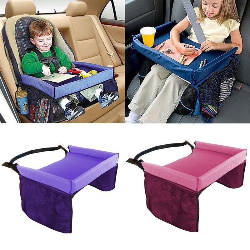 foldable waterproof safety baby car seat table kids snack baby stroller accessories travel tray drawing board