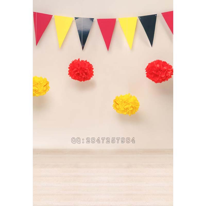 children birthday vinyl photography backdrops photo studio flags paper flowers party children's kingdom for digital  S-1213 retro background christmas photo props photography screen backdrops for children vinyl 7x5ft or 5x3ft christmas033