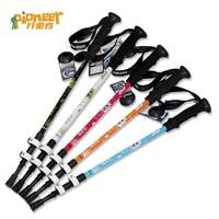 008 Pioneer Trekking Pole Carbon Alpenstock Climb Aluminum Nordic Walking Sticks