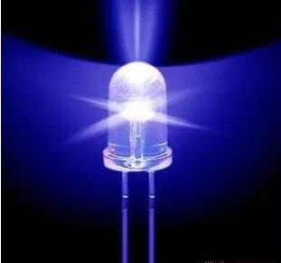 Круглые супер яркие светодиодные лампы 5 мм синего цвета, 100 шт., оптовая продажа, 5000MCD