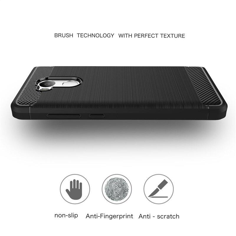 De carbono cajas del teléfono para xiaomi xiaomi redmi 4 pro case cristal de sil