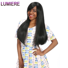 Lumiere Hair Indian Straight Hair 1 Bundle 100% Human Hair Weave 10″-28″ Natural Color Non Remy Human Hair Bundles Double Weft