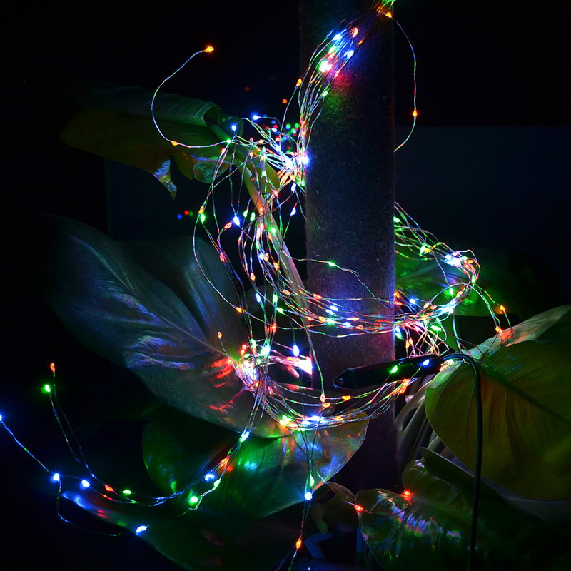 20 LEDs Copper Wire Lights 2M String Lights for Christmas Light Festival Wedding Party or Home Decoration Lamp