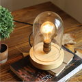 Northern Europe American style creative fashion retro  glass shade table lamp for decoration reading room