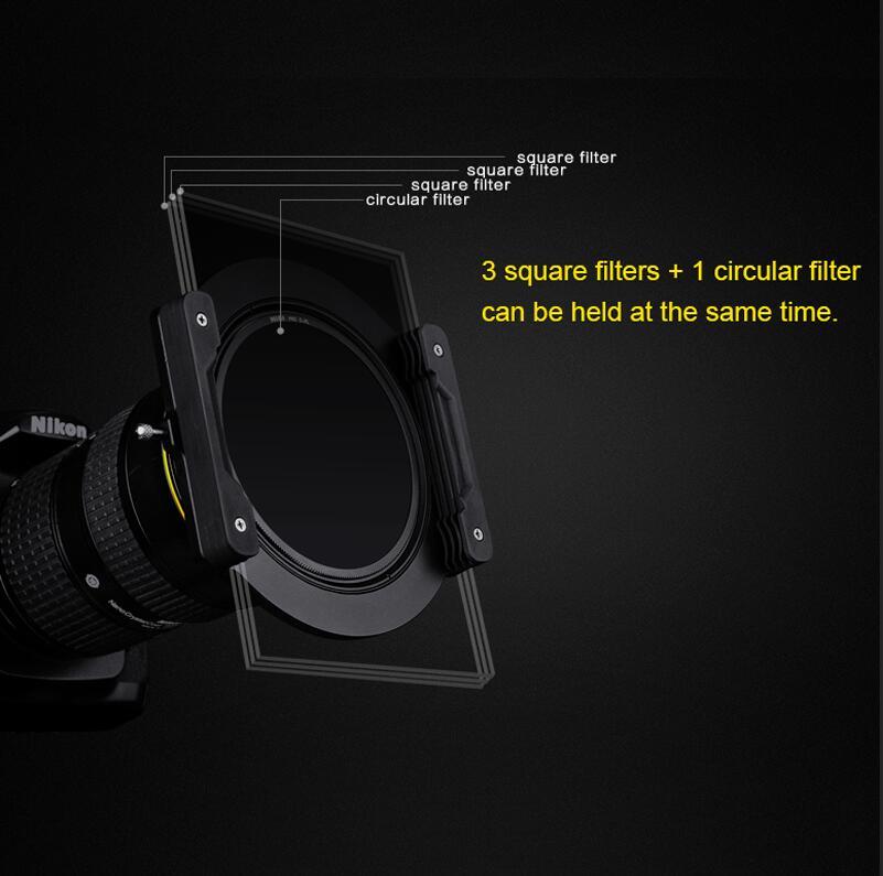 Prix pour Nisi v5 kit 100mm verre carré filtre aviation en aluminium 67mm anneau miroir support carré plug-in fiche système pour nikon canon