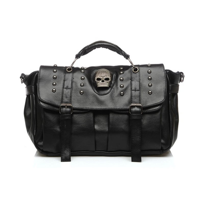 bolsos mujer de marca famosa 2017 Rivet skull head ghost head bag retro single shoulder locomotive bag slant cross female bag comics dc marvel wallets green arrow leather purse women money bags gift wallet carteira feminina bolsos mujer de marca famosa
