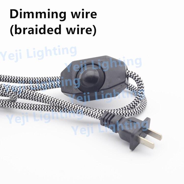Bunte geflochtene kabel draht mit dimmer 2 pin stecker kabel Für ...