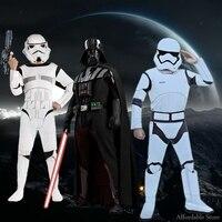Halloween Star Wars Cosplay Costume White Soldiers Black Warrior Costumes Luke Middot Skywalker STARWARS