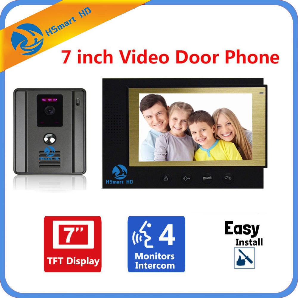 7 inch Color Screen Video Doorphone Intercom System 1 Monitor + Wide Angle IR HD Camera7 inch Color Screen Video Doorphone Intercom System 1 Monitor + Wide Angle IR HD Camera