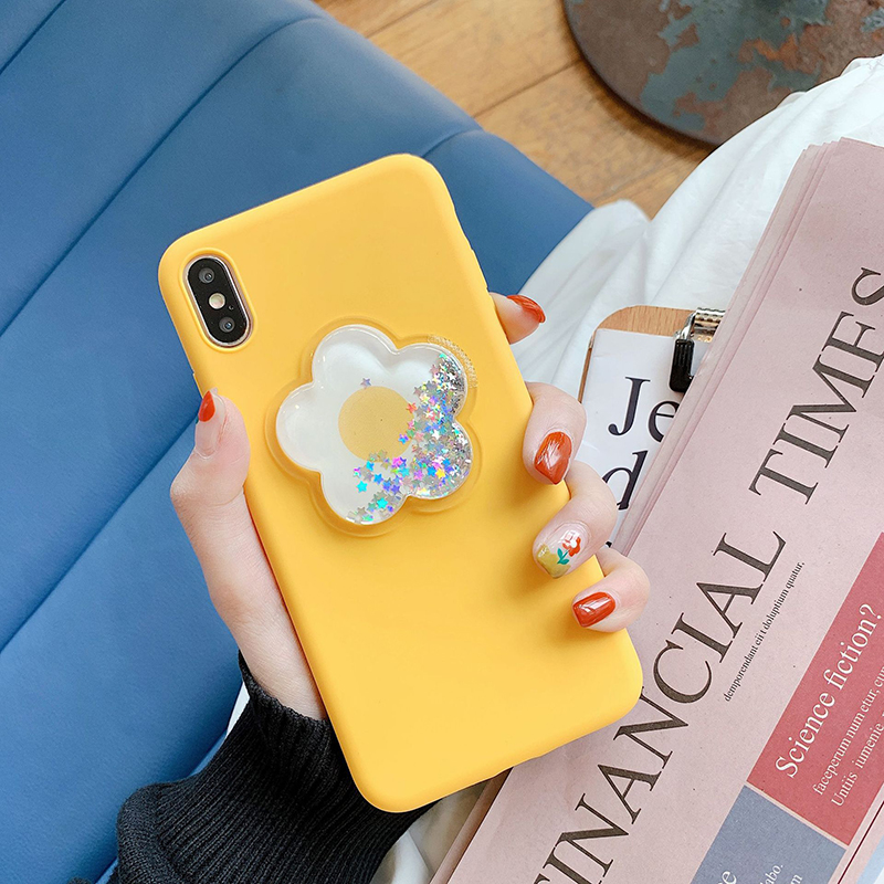 Pohiks Phone Back Cover For iphone 7 8 6 6s plus Dynamic Liquid Flower Soft Case Cover For iPhone XS Max XR X 6 7 8 Plus Fundas