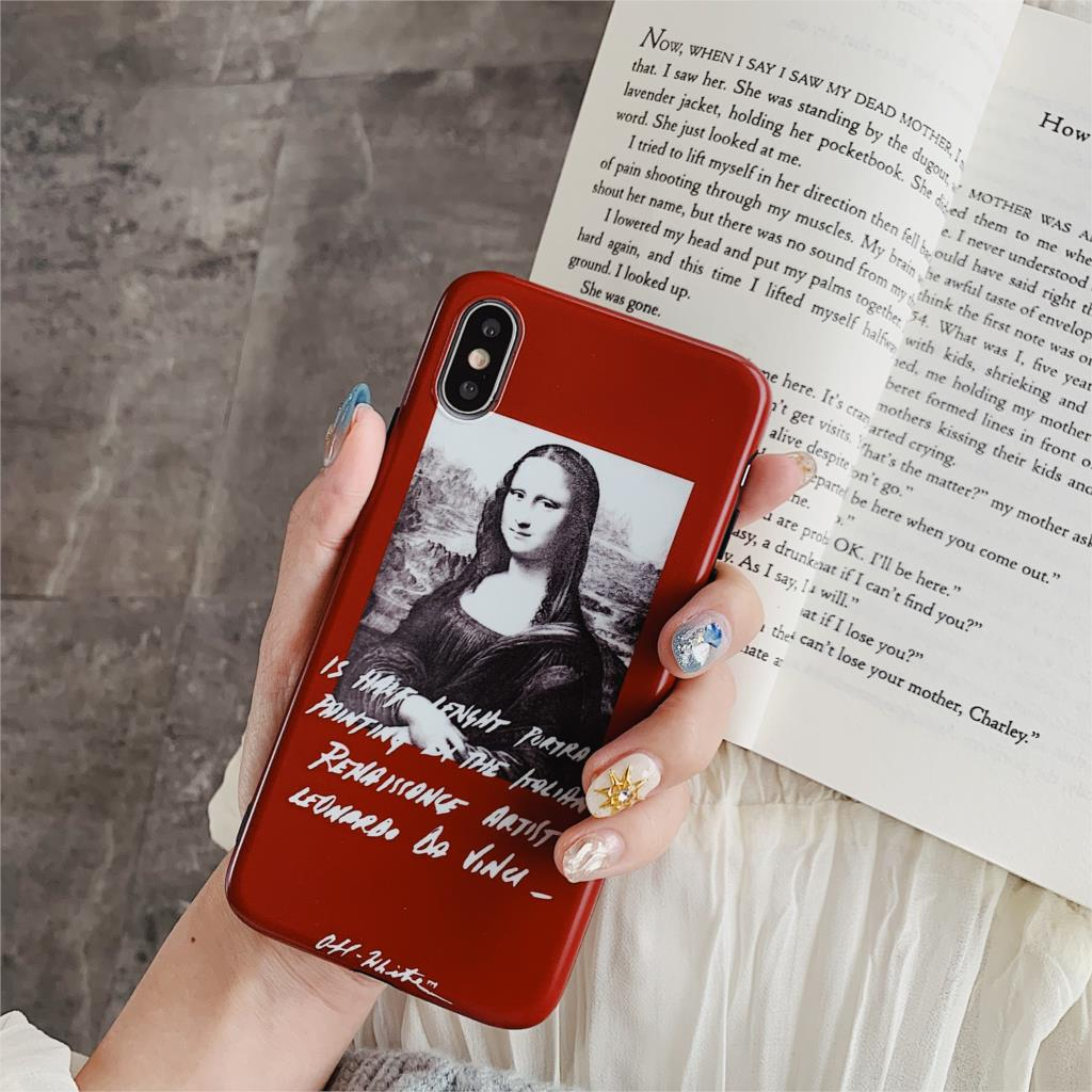 Mona Lisa Oil Painting Art Funda For Iphone X Case Matte IMD Phone Case For Iphone X XR XS Max 6 6S 7 8 Plus Cover Soft TPU Capa