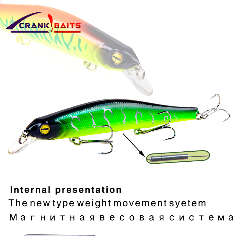 CRANK BAITS 2018 good fishing lure minnow quality professional bait 12.5cm17.4g swim bait jointed bait equipped strong hook YB88 mixed set 5 8g 13 81g classic frog mouse soft fishing lure crank bait bass tackle hook plastic crank baits double claw like hook