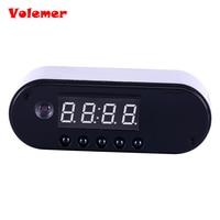 Volemer 1080P H 264 Table Clock Camera Alarm Set Mini Camera IR Night Vision Wifi IP