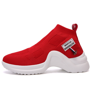 Image 4 - Fevral 女性カジュアルシューズファッション通気性エアーメッシュ快適黒、白、赤スニーカー高品質ファッションの女性の靴