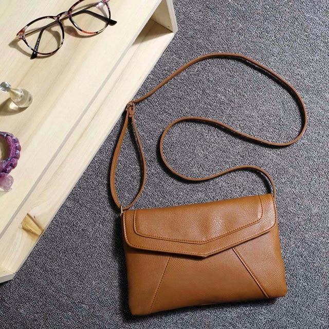 High Quality Fashion Women Female PU Lether Diagonal Magnetic Button Handbag  Ladies Girls Vintage Envelope Crossbody Bags 2d63db1d1f915