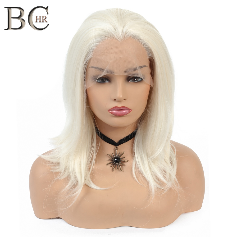 BCHR 613 Blonde Wig Synthetic 13*2 Lace Front Wigs For White Women Free Part Short Wig Heat Resistant Fiber