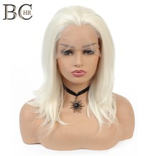 BCHR 613 Blonde Wig Synthetic 13*2 Lace Front Wigs for White Women Free Part Short Wig Heat Resistant Fiber(China)