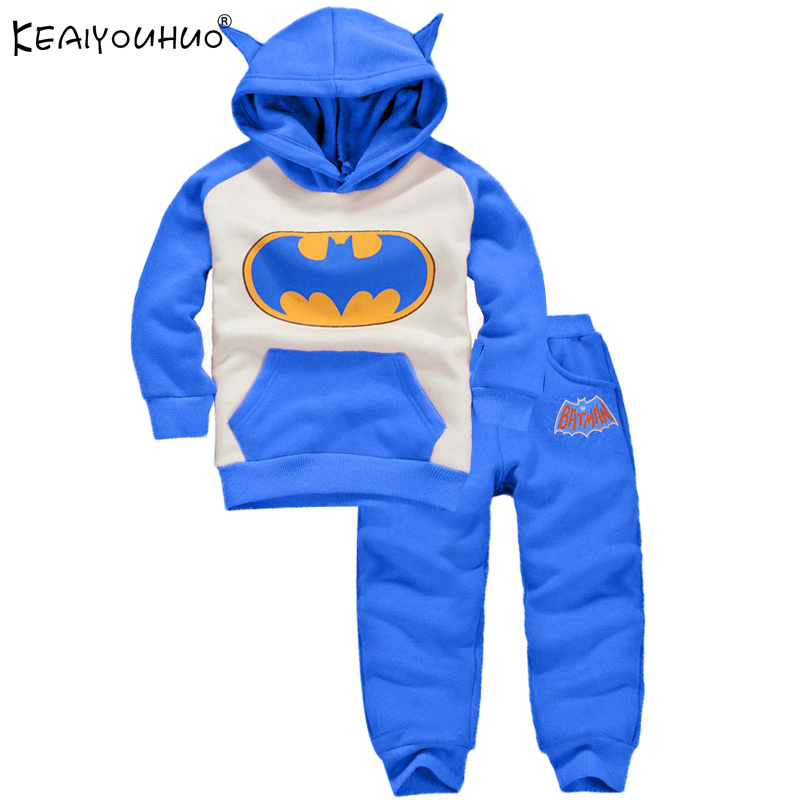 KEAIYOUHUO 2017 Baby Boy Girl Clothes Batman Sport Suit Cartoon Modelling Girls Sets Cosume For Infant Long Sleeve Baby Clothing