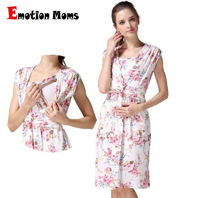 602f2d410f Emoção Mães Vestidos de Amamentação roupas De Enfermagem roupa de  Maternidade Maternidade Vestido de Maternidade roupas