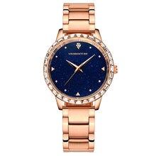 Женские часы часы Женщины Золотые Часы Кристалл Наручные Часы Подарок Роскошные Платья Женщин Кварцевые Часы Водонепроницаемые Часы montre femme