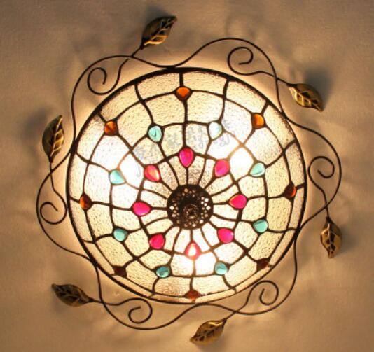 light ceiling LED Home aisle porch corridor balcony lights Ceiling Lights Mediterranean Cafe Lamp DF81