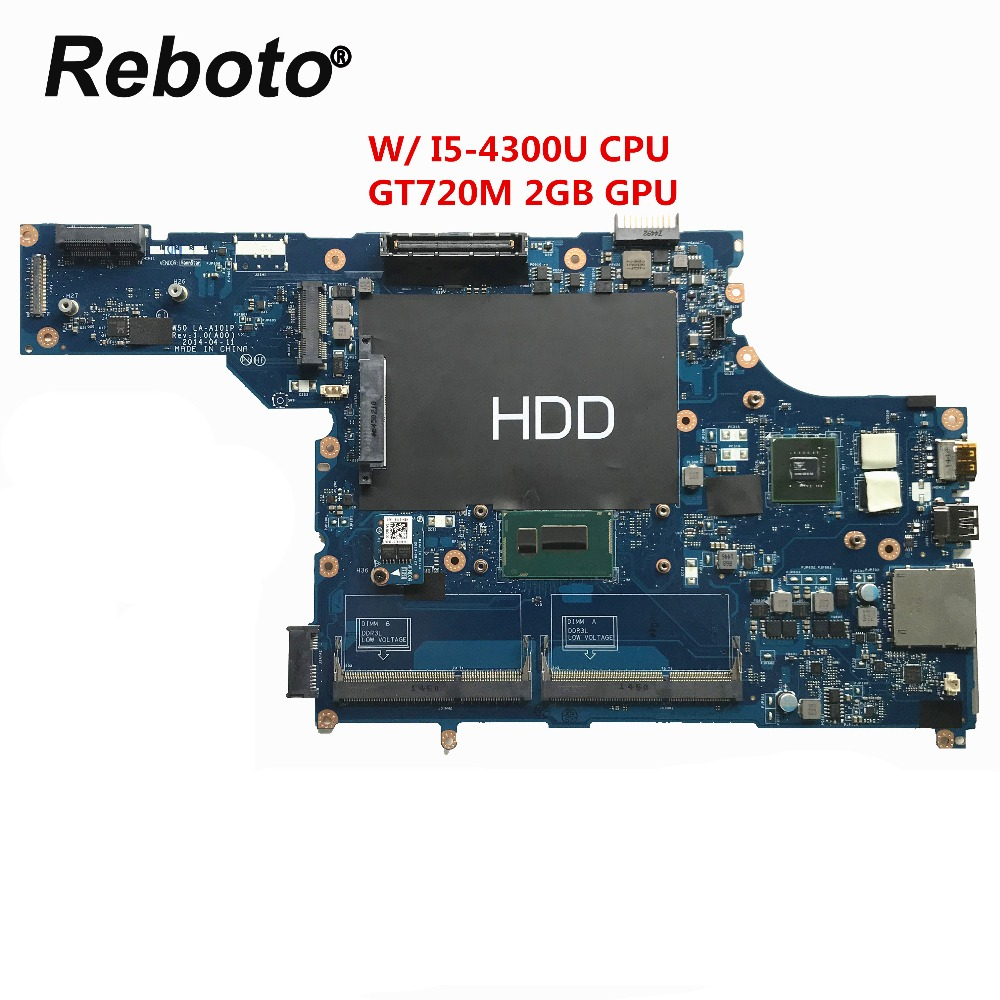 Computer & Büro Für Dell E5540 Laptop Motherboard Mit Sr1ed I5-4300u Cpu Gt720m 2 Gb Gpu Vaw50 La-a101p Ddr3l Mb 100% Getestet Schnelle Schiff