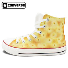 Converse All Star Soda Cracker Biscuit Original Design Hand Painted Shoes Custom High Top Sneakers Women Men Christmas Gifts