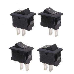 Image 4 - 20pcs Mini Rocker Switch SPST Black and Red Snap in Switches Button AC 250V 3A / 125V 6A 2 Pin I/O 10*15mm On off Switch Rocker