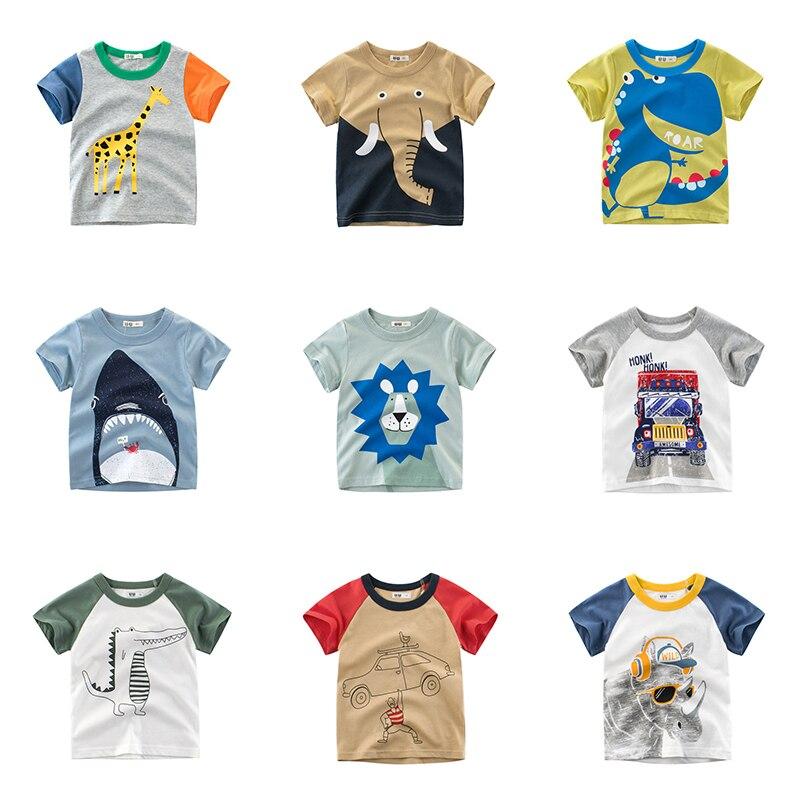 15/farbe Newbornt-shirt Kind Baumwolle Cartoon Print 2019 Sommer Tops Weichen Bequemen Baby Kleidung Baby Kleidung Baby Tops