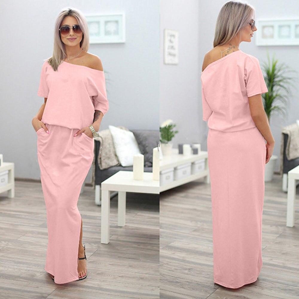 2017 Nuevo estilo mujeres embarazadas verano largo Maxi BOHO vestido ...