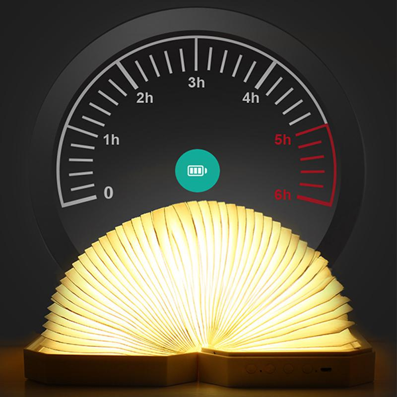 AKDSteel LED pliant orgue lumière Bluetooth Audio livre lampe veilleuse décoration