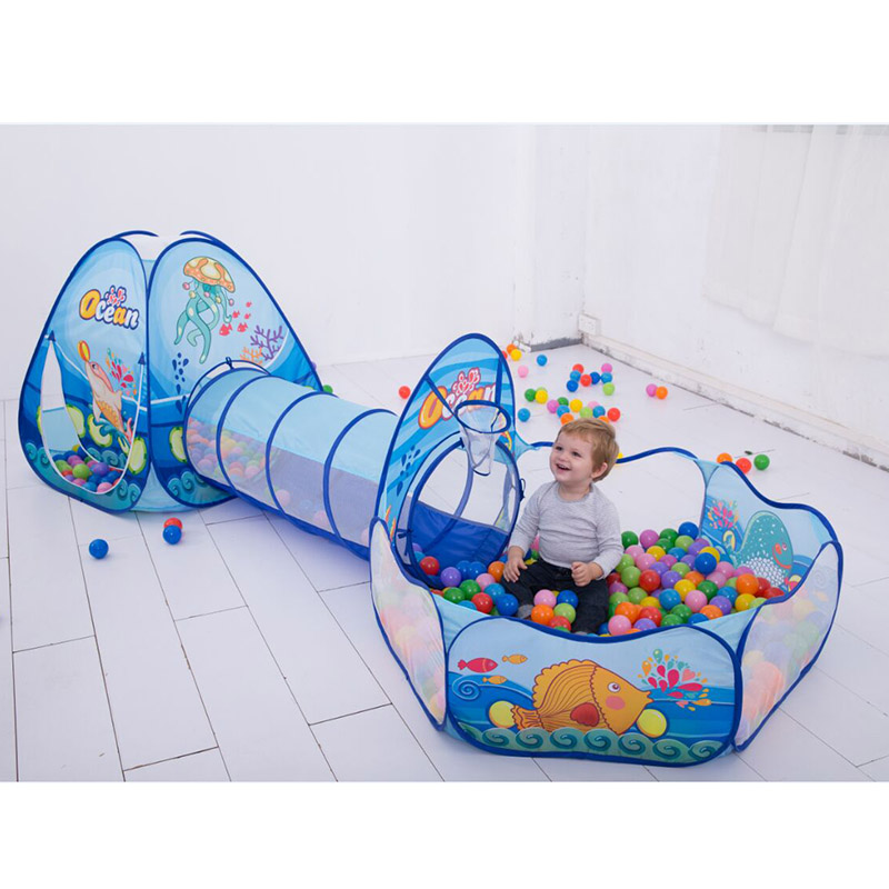 დასაკეცი საბავშვო Pool-Tube-Teepee - გარე გართობა და სპორტი - ფოტო 1