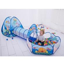 Sklopivi dječji bazen-Tube-Teepee Toy šatori Pop-up Baby puzeći tunel Ogromna igra Yard na napuhavanje Ocean Ball Pool Lodge Šatori Toy