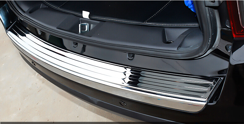 Stainless steel Car Boot Rear Trunk Outer Bumper Protector Guard Plate Cover For Jeep Patriot 2011 2012 2013 2014 2015 1PC/SET built guard bump guard plate after the pedal steel trunk for 2011 2012 2013 2014 vw volkswagen polo hatchback