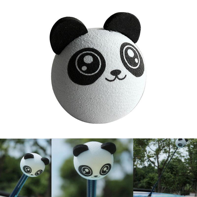 1 Stks Leuke Mooie Panda Auto Antenne Pen Topper Antenne Bal Decoratie Gift Speelgoed Auto Exterieur Styling Accessoires Van Hoge Kwaliteit
