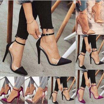 zapatillas de deporte para baratas 32da1 530fd Tacones altos zapatos de boda de graduación de mujer plataformas de cristal  de plata brillantina zapatos de novia de fiesta zapatos de mujer de tamaño  ...