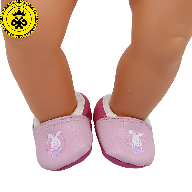 Baby Born Doll Shoes Cute Pink Casual Shoes Fit 43cm Zapf Baby Born Doll Accessories Girl Gift xie583
