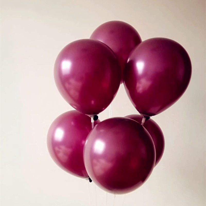Wine red balloon 50pcs lot10 inch 2 2g spherical coffee latex balloons birthday party decoration anniversaire ballon wedding in Ballons Accessories from Home Garden