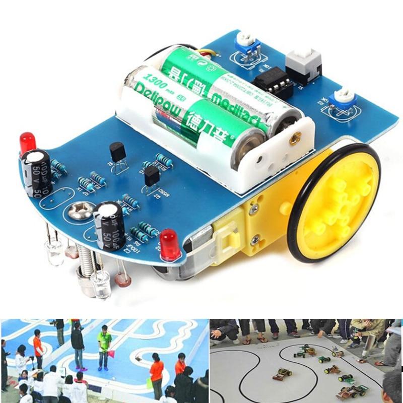 10pcs D2-1 DIY Kit Intelligent Tracking Line Smart Car Kit Suite TT Motor Electronic Production Smart Patrol Automobile Parts
