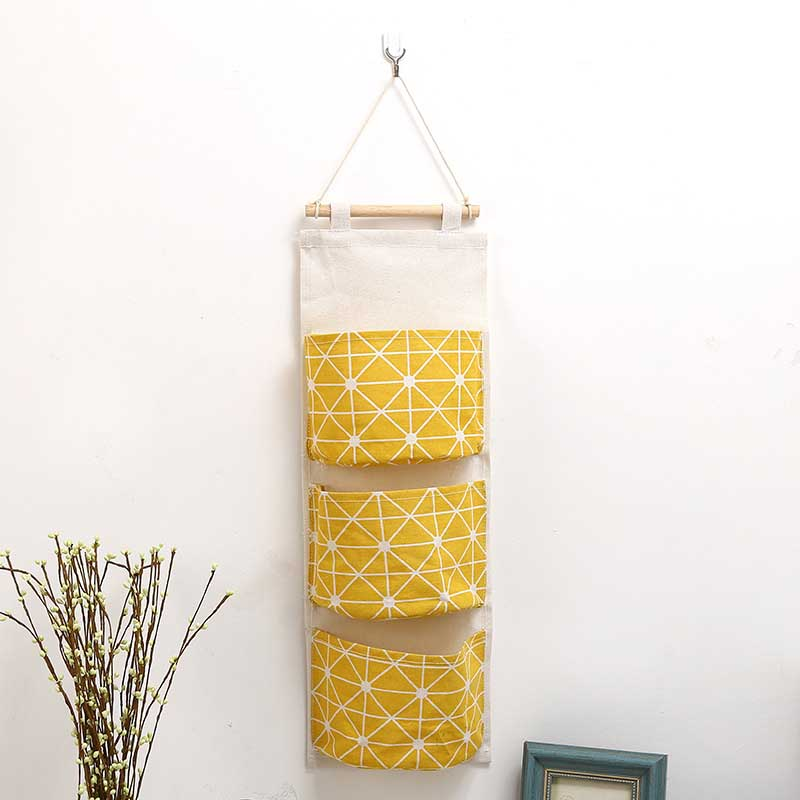 Multilayer 3 Pockets Hanging storage Organizers Kitchen Bathroom Sundries Storage Bag Linen Wall Door Wardrobe Hanging Bag in Storage Bags from Home Garden